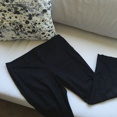 "Ann Taylor ""Chelsea"" Cropped Pant Cropped trouser in basic black with side zip and flat front. Wide waistband. Ann Taylor Pants"