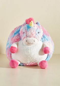 Plush One Pillow in Pastel Unicorn, #ModCloth