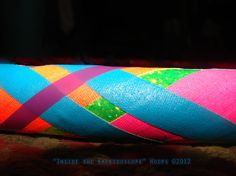 Collapsible Hula Hoop -Rainbow Plaid Pattern. By Kaleidocollective.$28.75