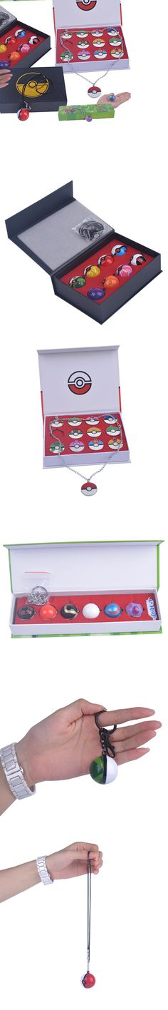 Wholesale Hot Glass Dome Eevee Pokeball Necklace Key chain Pokemon Pendant Personalized Picture Kids Toys