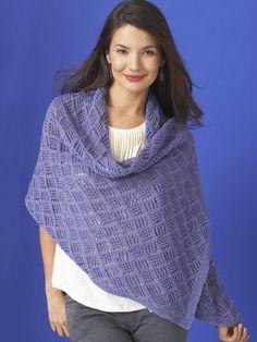 Diamond Lace Wrap | Yarn | Free Knitting Patterns | Crochet Patterns | Yarnspirations