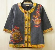 Sewing clothes jackets black New Ideas Blouse Batik, Batik Dress, Blouse Dress, Mode Batik, Batik Kebaya, Baby Frocks Designs, Batik Fashion, Frock Design, Sewing Clothes