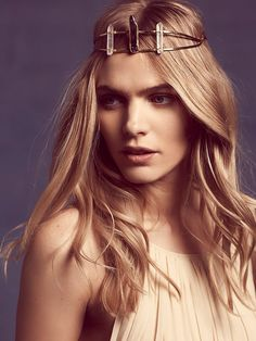 Flight of Fancy Annie Crystal Crown at Free People Clothing Boutique