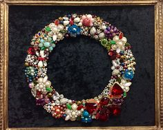 Heirloom Jewelry Art wreath by Leslee Martin