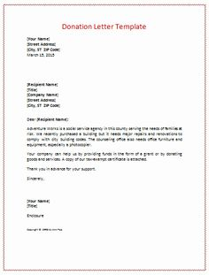 Donation letter templates for fundraising free examples and formats Document Templates