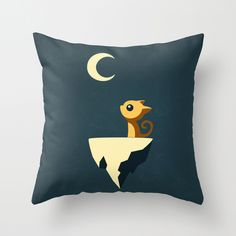 I see the moon and the moon sees…the cat! This throw pillow cover makes the perfect companion to homes with introspective cats who like to look out of bay windows and stare at the moon (and passersby)....  Find the Cat Sees the Moon Pillow Cover, as seen in the Pillow Covers Collection at http://dotandbo.com/category/decor-and-pillows/pillows/pillow-covers?utm_source=pinterest&utm_medium=organic&db_sku=SO60109