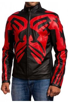This remember able attire that give a look have an astonishing view to its outer look, it have a brilliant who look give a tremendous look to its wearer. Darth Maul, Star Wars Darth, Motorcycle Jacket, Bomber Jacket, Star Wars Shop, Men's Leather Jacket, Men's Wardrobe, Disneyland Paris, New Movies