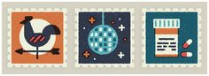 Everyday Stamps by MUTI, via Behance