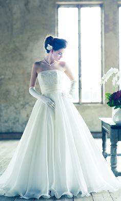 人気ウエディングドレスを探す|グランマニエ東京銀座・札幌 Colored Wedding Dresses, One Shoulder Wedding Dress, Lace Dress, Osaka, Fashion, Dress, Moda, Dress Lace, Fashion Styles