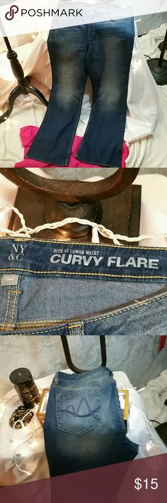 Jeans Curvy flare jeans. Never worn. NY&C Jeans Flare & Wide Leg