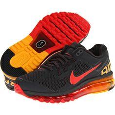 Nike Air Max+ 2013 Dark Charcoal/Laser Orange/Challenge Red - Free Shipping BOTH Ways
