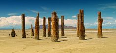 The old Posts office Located at the Great Salt Lake, Utah, USA