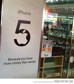 China Apple Store is being really honest…