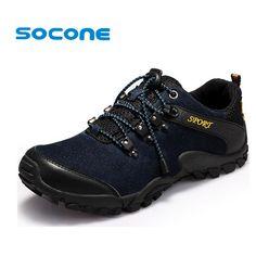 Leather Sport Men Sneaker Spring Suede Outdoor Shoes Low 2017 Men's Hiking Shoes Trekking Walking Shoes Men zapatos hombre
