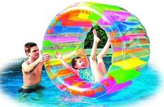 Pool Float Device Giant Inflatable Water Wheel Swimming Kids Blow Up Rainbow #Pool #Float #Device