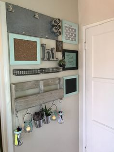 Home command center for small spaces. DIY