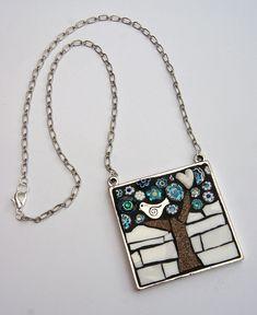 Bird in a tree - by Angela Ibbs Mosaics at BreezyB5