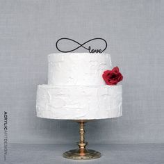 Amazon.com: Infinity Love Cake Topper for Weddings - laser cut by Acrylic Art Design: Kitchen & Dining