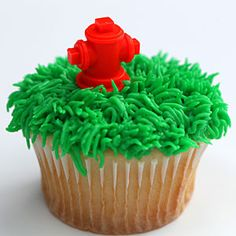 Learn how to pipe grass frosting as a fun, decorative touch for cupcakes. This technique can be used when making Maltese Pupcakes.
