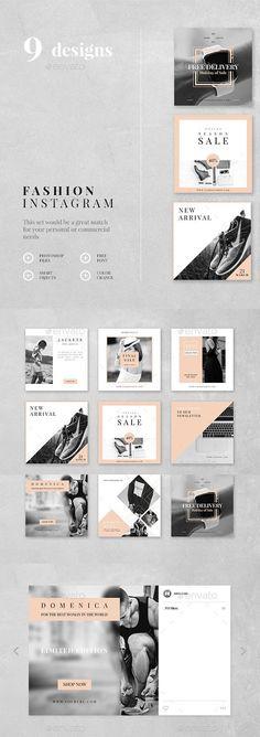 Elfin Popular How To Photoshop Adobe Banner Instagram, Mode Instagram, Instagram Design, Instagram Fashion, Instagram Feed Layout, Instagram Shop, Web Design, Book Design, Layout Design