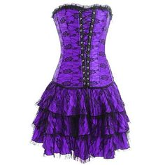 Plus Size Lingere Lace Gothic Corset Skirt Sexy Lingerie Halloween Costume