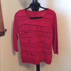 Merona red 3/4 length shirt Red 3/4 length shirt! Great with jeans or slacks! Merona Tops