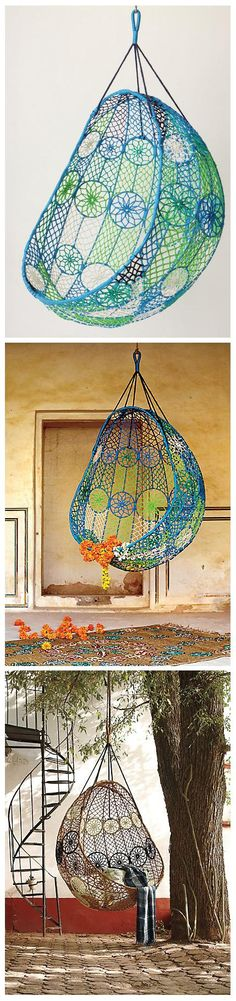 Knotted Melati Hanging Chair For Your Garden | World In Green