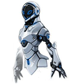 female robot by yunBE on DeviantArt