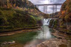 Upper Falls In Fall