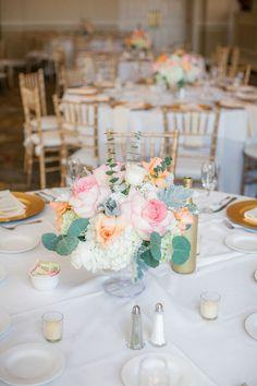 Floral wedding centerpiece - Clane Gessel Photography