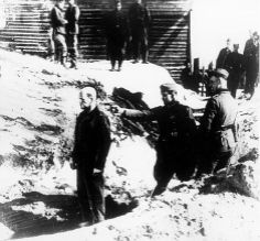 Execution by Einsatzgruppen. The Einsatzgruppen were German mobile killing units that operated within German-occupied territory after Germany invaded the Soviet Union in 1941. The Einsatzgruppen rounded up Jews, Gypsies, the disabled, Communists, and prisoners of war and then murdered them. By the spring of 1943, it is estimated that the Einsatzgruppen had murdered approximately 1.25 million Jews and thousands of others.