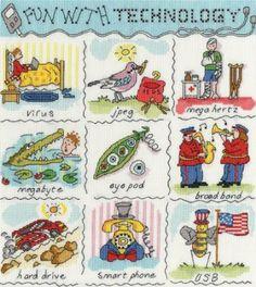 Amazon.com - Bothy Threads Dictionary Of Technology Cross Stitch Kit - Counted Cross Stitch Kits