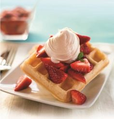 Strawberry-Shortcake-Waffles2 Includes recipe for Whipped Coconut topping (Whipped cream alternative)