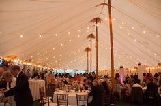 """Bistro lighting in the Sperry tent Anne Curtis & Brian say """"I DO!!!"""" 