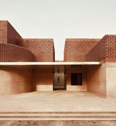 Yves Saint Laurent Museum Marrakesh by studio Ko masturbate your eyes! Brick Architecture, Minimalist Architecture, Contemporary Architecture, Interior Architecture, Interior Design, Marrakesh, Marrakech Morocco, Brick Building, Building Design