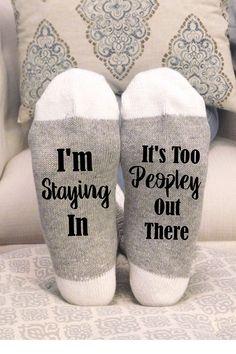 Cute Christmas Gifts, Christmas Humor, Xmas, Socks Quotes, Shilouette Cameo, Grey Socks, Custom Socks, Funny Socks, Novelty Socks
