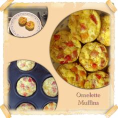 """For Easter Morning Breakfast we made Omelette Muffins this year! We're excited because we can eat the leftovers as breakfast this week as a quick """"grab and go""""! Omelette Muffins Recipe:8 large eggs 1/4 cup diced bell peppers 1/4 cup diced tomatoes 1/2 cup cheese of choice (we used smoked cheddar) Seasoning to Taste (we …"""