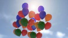 Happy balloons scene.