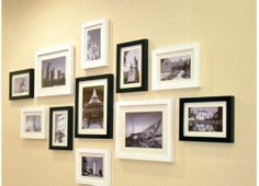 11 Solid Pine Wood Black and White Picture Photo Frames Set 193 Wpho 11