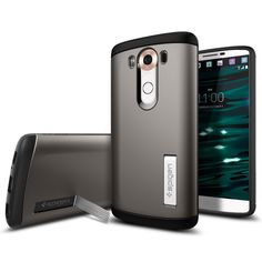 The Slim Armor® case offers absolute protection in a slim package for the LG V10. The impeccable fit of the hard PC exterior and soft TPU interior features shock absorbing technology that safeguards the device from drops in pristine style. The added kickstand props the display at a comfortable viewing angle for extra versatility.  Shop Now: http://www.spigen.com/products/lg-v10-case-slim-armor?variant=7493696705