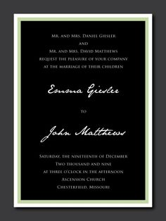Formal Frame Wedding Invitation by PaperPerfectionist on Etsy, $20.00