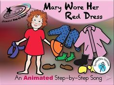 Mary may not have the best fashion sense but she is well on her way to learning the names of her fellow classmates, articles of clothing and colors! This Animated Step-by-Step poem is based on a song that works on student names, clothing items and color.