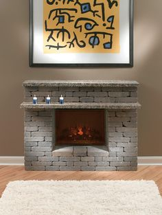 Sheet Metal Fireplace Surround | Fireplace | Pinterest | Fireplace ...