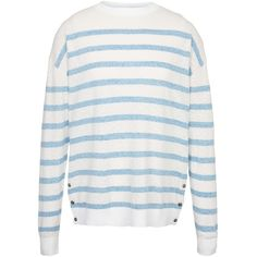 Fat Face Salcombe Stripe Jumper (€39) ❤ liked on Polyvore featuring tops, sweaters, white, white long sleeve sweater, white top, fitted sweater, long sleeve sweater and lightweight sweaters