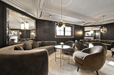 Inspiration:  Hôtel Apogée, décorateurs India Mahdavi et Joseph Dirand (Courchevel)