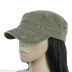 Distressed military hat cadet baseball man women army cap green  besthatgarden 04aea87a4a