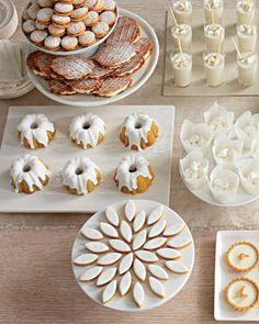 An irresistible all-white dessert buffet
