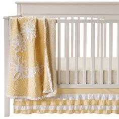 Castle Hill Yellow Ruche 3pc Crib Bedding Set : Target Mobile