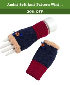 Amint Soft knit Pattern Winter Fingerless Gloves Mittens for Girl Navy Blue. Product Features These are a nice solution to keep your hands warm while still allowing the freedom to type. The thumb holes are on the small side and work for you. Super warm and the sweater-like look. You can text without taking them off. About Shipping Normally we ship your order by USPS standard shipping service, it will arrive your there about 7-15 days. If you choose the expedited shipping service at check…