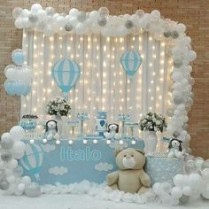 the little-known secrets to baby shower ideas for girls& topics 9 . - the little-known secrets to baby shower ideas for girl themes 9 Baby Shower Decorations For Boys, Boy Baby Shower Themes, Baby Shower Balloons, Baby Shower Gender Reveal, Baby Shower Centerpieces, Baby Decor, Baby Boy Shower, Baby Boy Birthday Themes, Baby Boy Themes